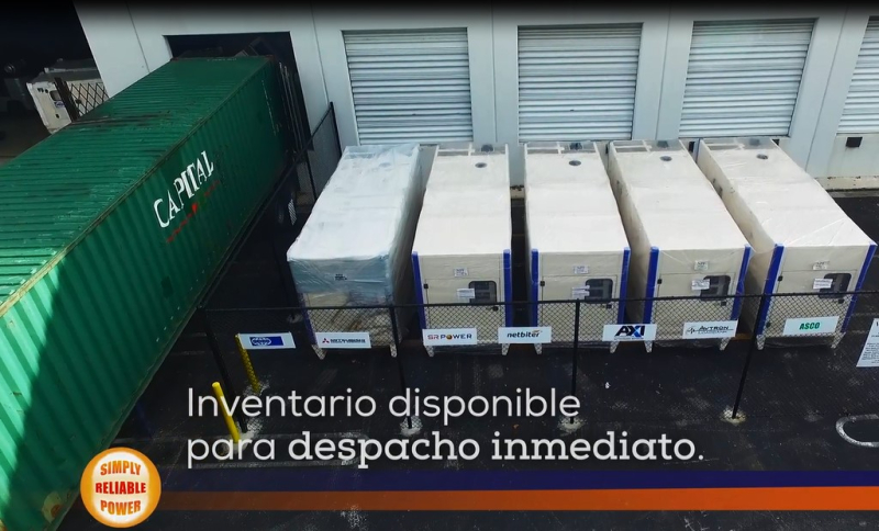 Warehouse outside Spanish Inventario disponible